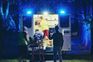 Alpine Cardiology EMS caring for heart attack patient