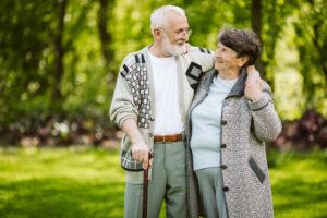 Alpine Cardiology - Couple walking in park