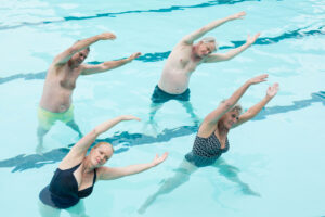 Alpine Cardiology seniors exercising in swimming pool