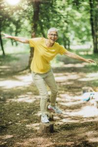 senior walking exercise