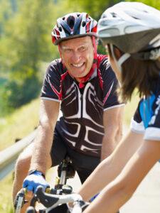 Alpine Cardiology senior cyclist
